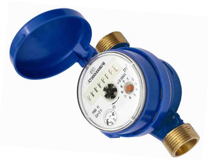 China Width 82 Brass Cold Hot Water Meter Single Jet ISO 4064 Dry Dial supplier