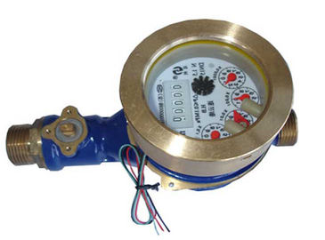 China Brass Ball Valve Potable Water Flow Meter 4 Channels For Cold Water Dry Dial supplier