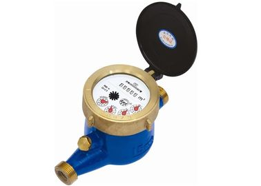 China Plastic Brass Housing Multi Jet Water Meter Magnetic Drive DN15 - 25  Anti Frog supplier