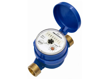 China DN20 Thread Single Jet Water Meter , Brass Body Cold Water Flow Meter supplier