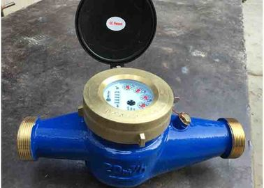 China Turbine Hot Wate Multi Jet Water Meter Dry Dial With Totalizer / Flow Rate supplier