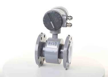 China Smart Utility Electromagnetic Flow Meter Rubber / Ptfe Liner Flange Pipe Connect supplier