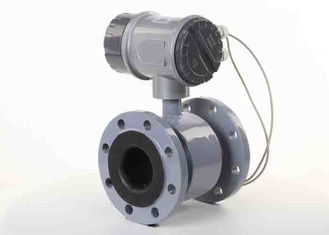 China 1.5% Accuracy Portable Electromagnetic Flow Meter With Liner Hard Rubber supplier