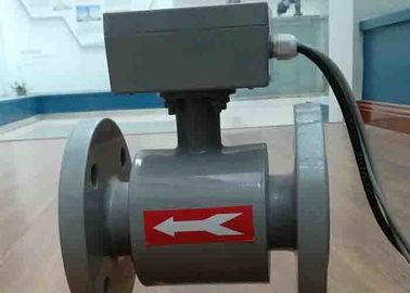 China Transit Time Ultrasonic Liquid Flow Meter , Stp / Etp Commercial Water Meter supplier