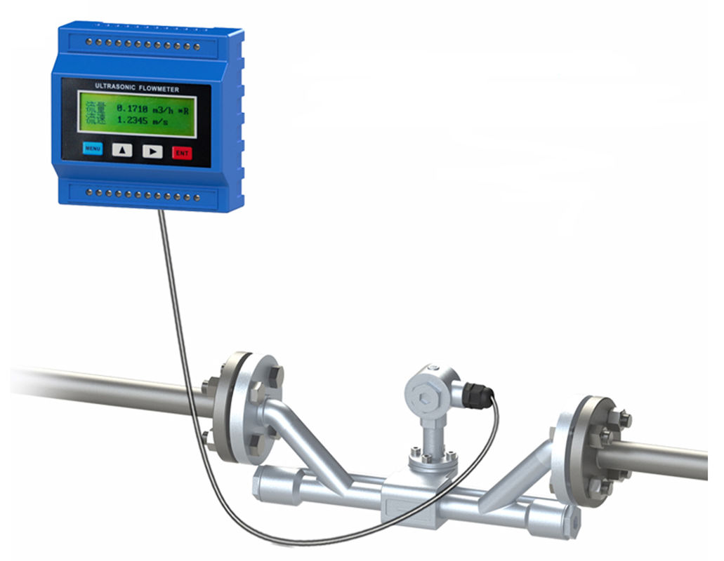 Ip68 Ultrasonic Liquid Flow Meter Transit Time With Clamp On