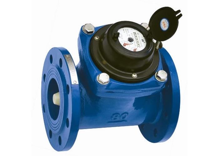 Dn100 Pn16 Flange Port Woltman Water Meter Ductile Iron Housing With Positive Displacement