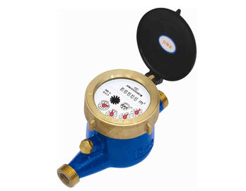 China R160 Brass Housing Multi Jet Water Meter , Residential External Magnetic Water Meter distributor
