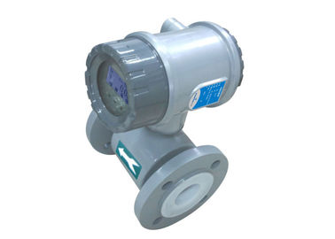China PTFE Lined Electromagnetic Flow Meter 316L Electrode For Seawater Flow Measurement factory
