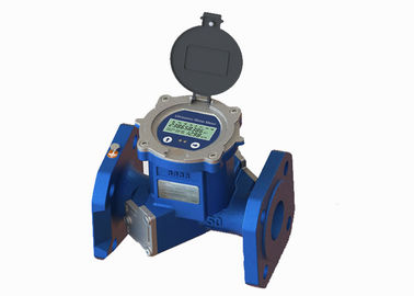China Flange Port Cast Iron Ultrasonic Flow Meter , ISO 4064 Bidirectional Liquid Flow Meter factory
