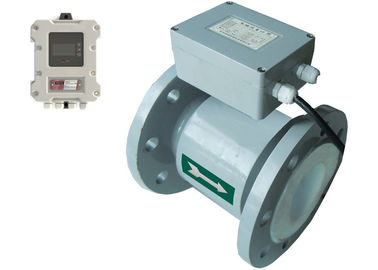 China PTFE Lined Electromagnetic Flow Meter Pulse 4 - 20 MA Output  RS485 Modbus factory